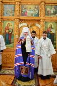 В Троицкую родительскую субботу Митрополит Александр совершил Литургию в храме Новомучеников и Исповедников Церкви Русской поселка Локоть